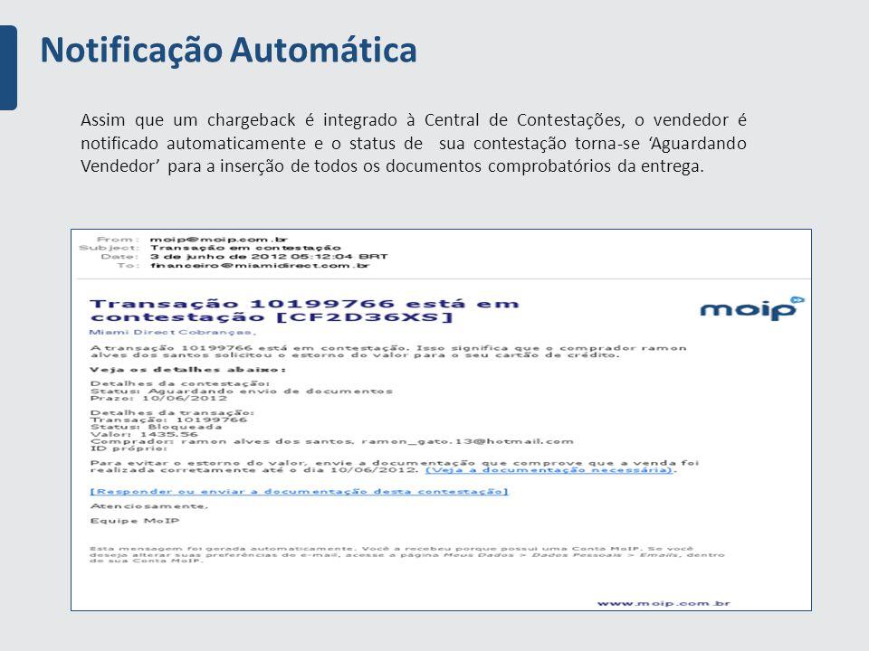 Notificação Automática