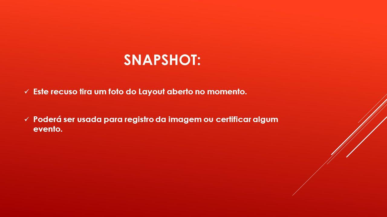 SNAPSHOT: Este recuso tira um foto do Layout aberto no momento.