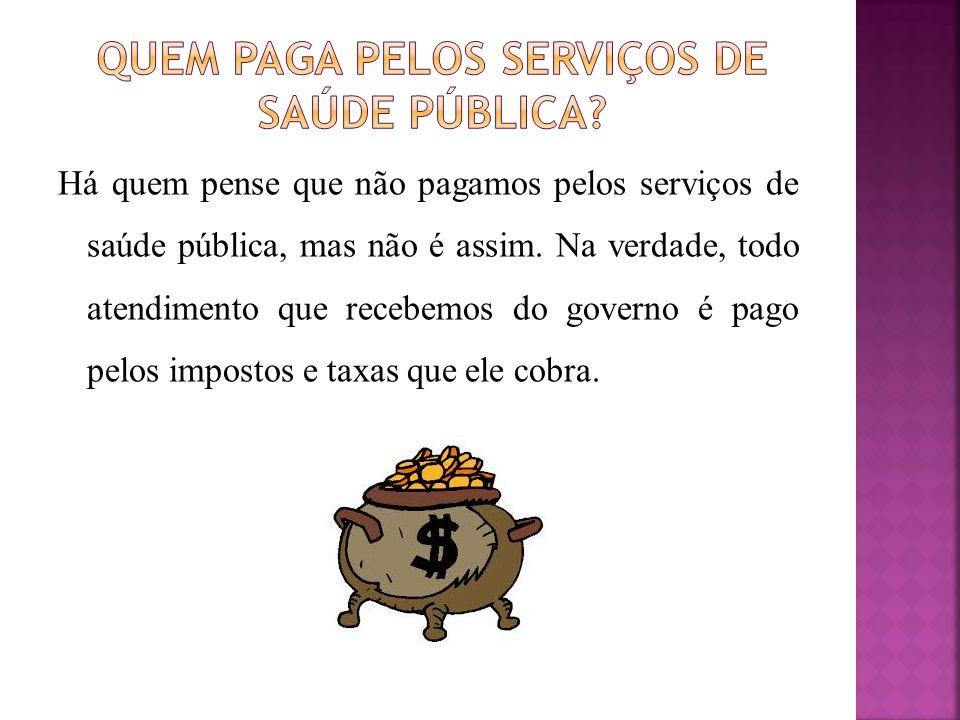 Quem paga pelos serviços de saúde pública