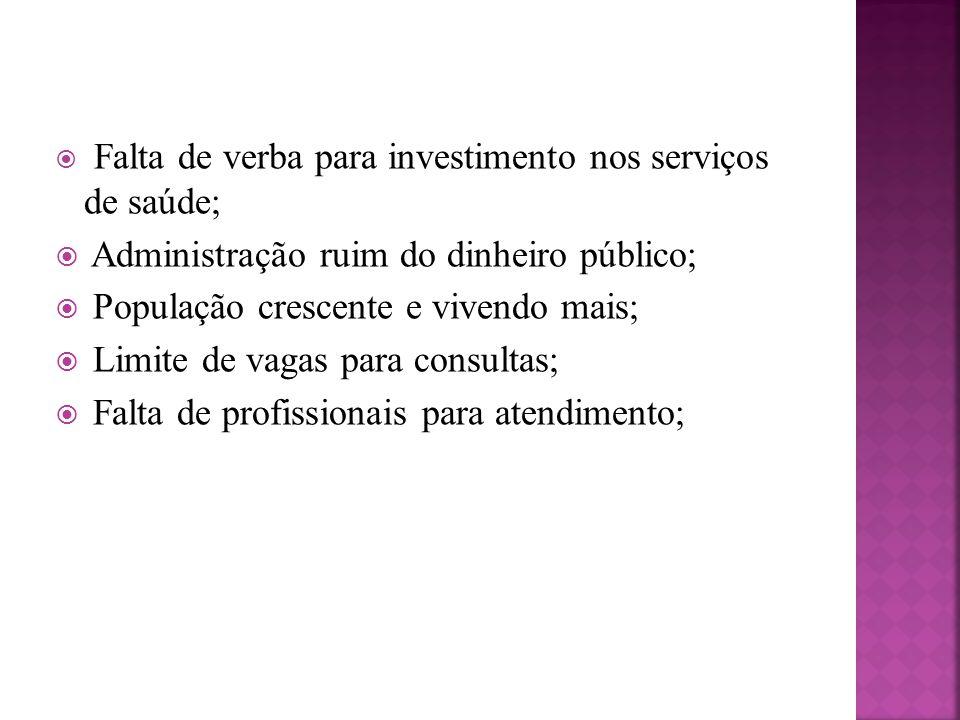 Administração ruim do dinheiro público;