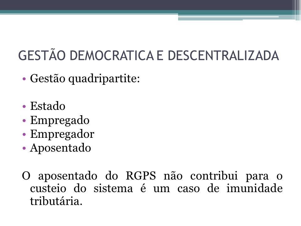 GESTÃO DEMOCRATICA E DESCENTRALIZADA