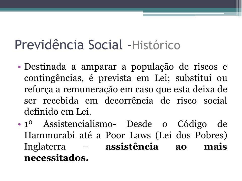 Previdência Social -Histórico