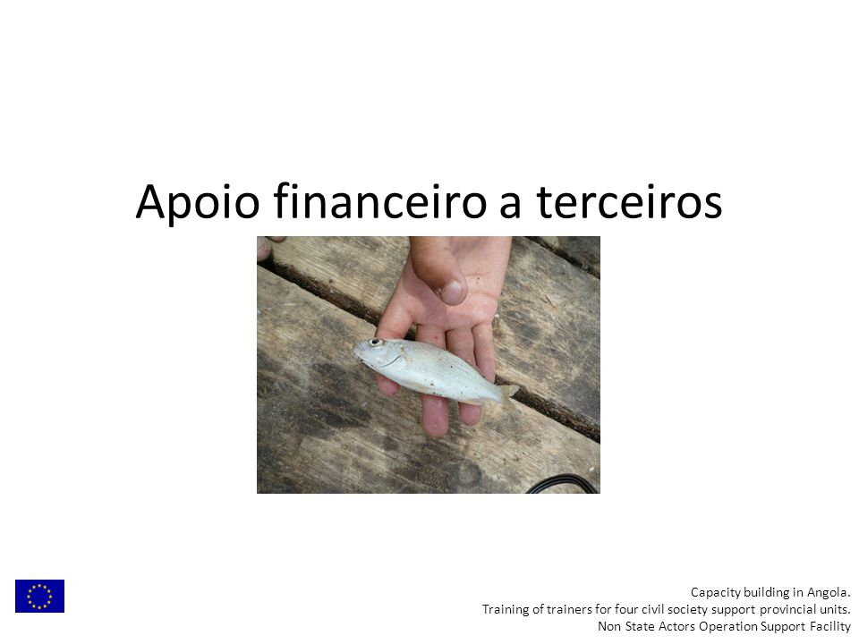 Apoio financeiro a terceiros