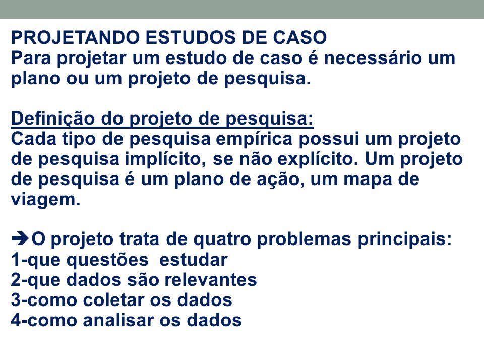 PROJETANDO ESTUDOS DE CASO