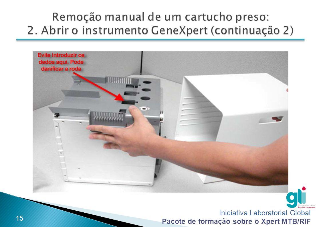 Remoção manual de um cartucho preso: 2