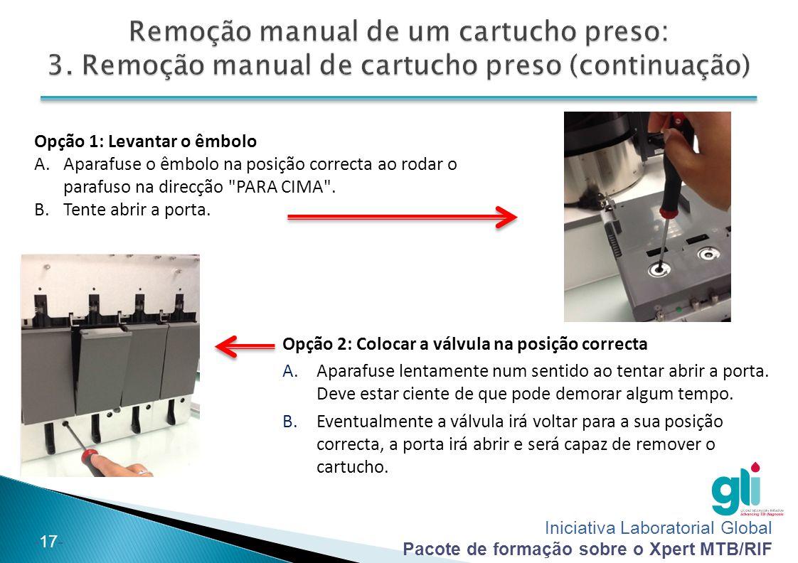 Remoção manual de um cartucho preso: 3