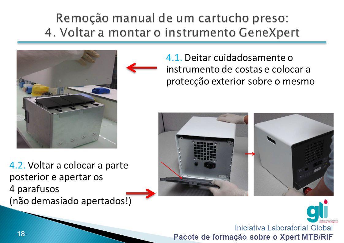 Remoção manual de um cartucho preso: 4