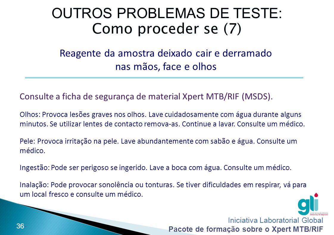 OUTROS PROBLEMAS DE TESTE: Como proceder se (7)