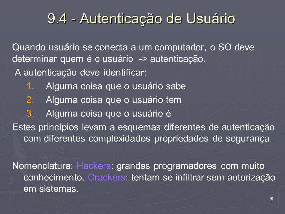 9.4 - Autenticação de Usuário