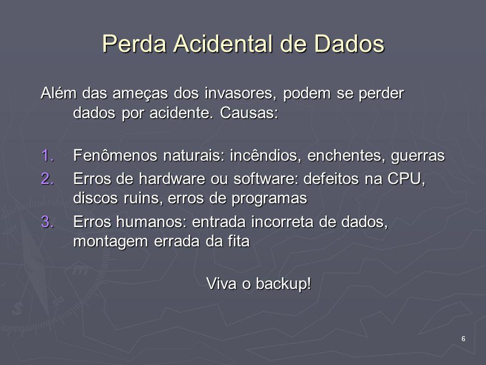 Perda Acidental de Dados