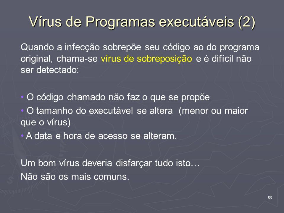 Vírus de Programas executáveis (2)