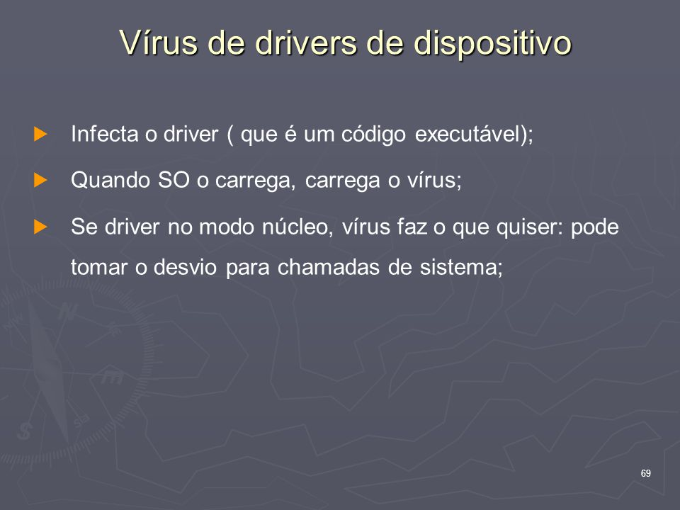 Vírus de drivers de dispositivo