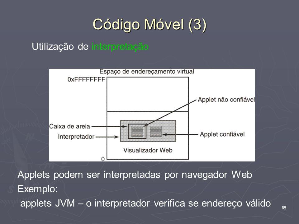 Código Móvel (3) Utilização de interpretação