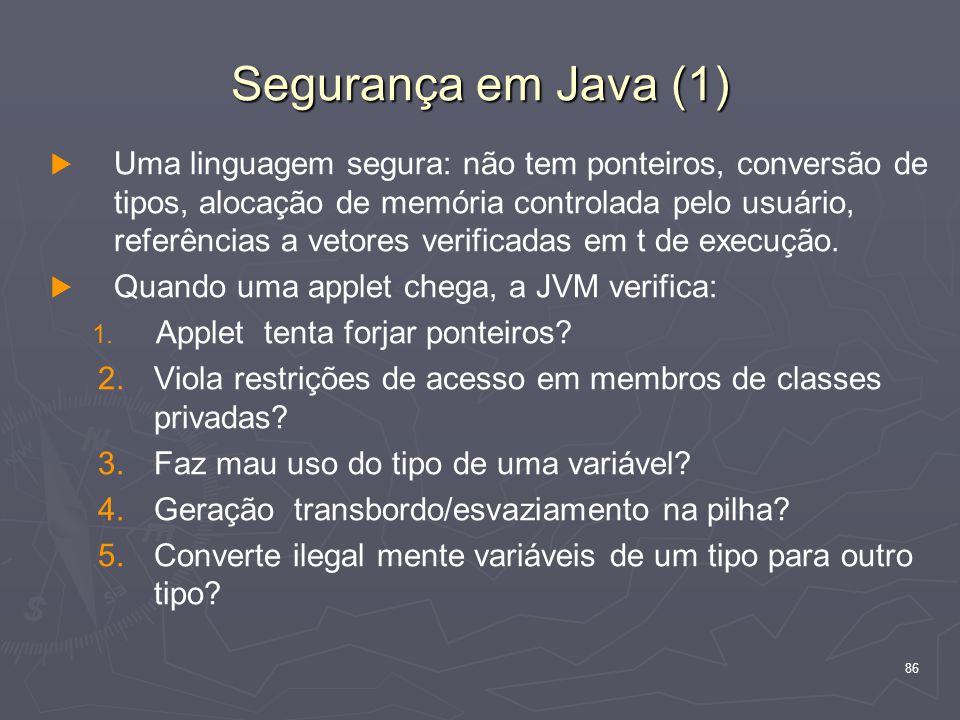 Segurança em Java (1)