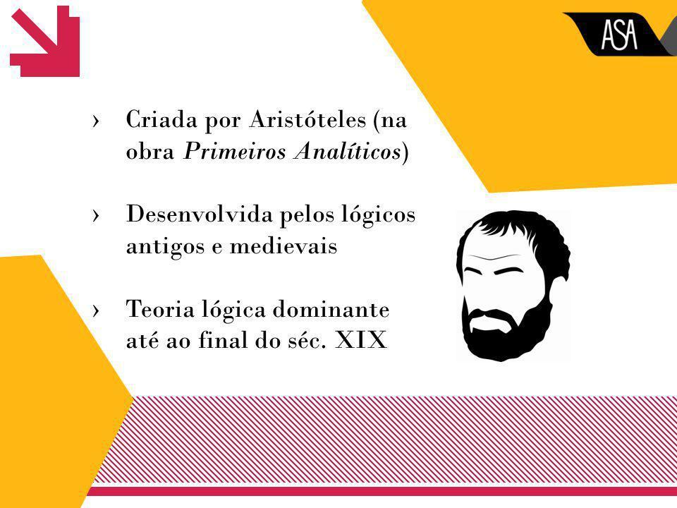 Criada por Aristóteles (na obra Primeiros Analíticos)