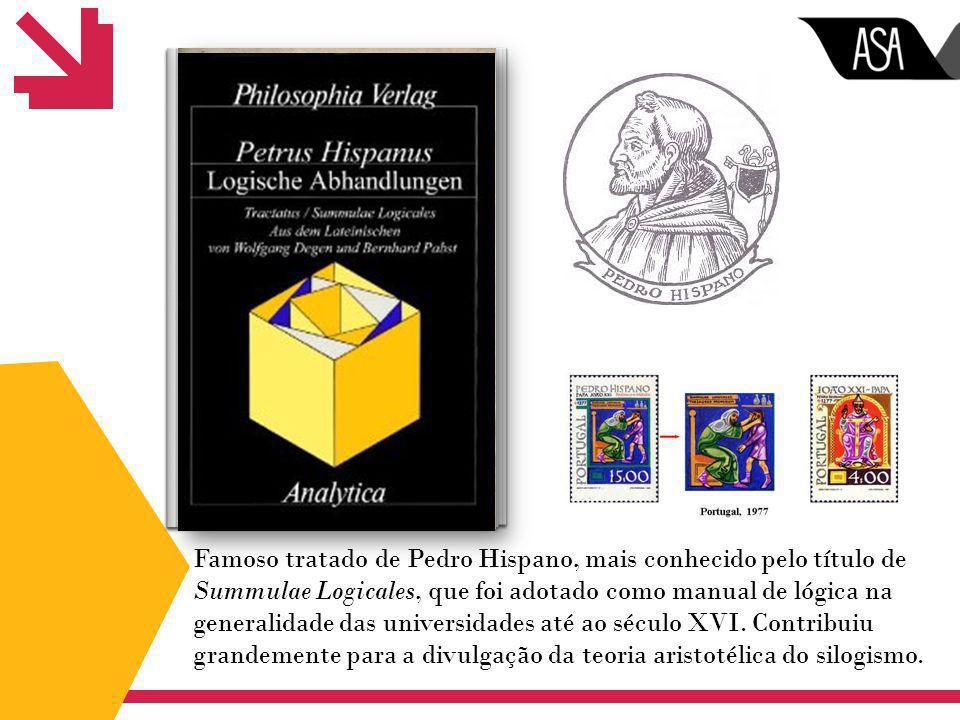 Famoso tratado de Pedro Hispano, mais conhecido pelo título de Summulae Logicales, que foi adotado como manual de lógica na generalidade das universidades até ao século XVI.