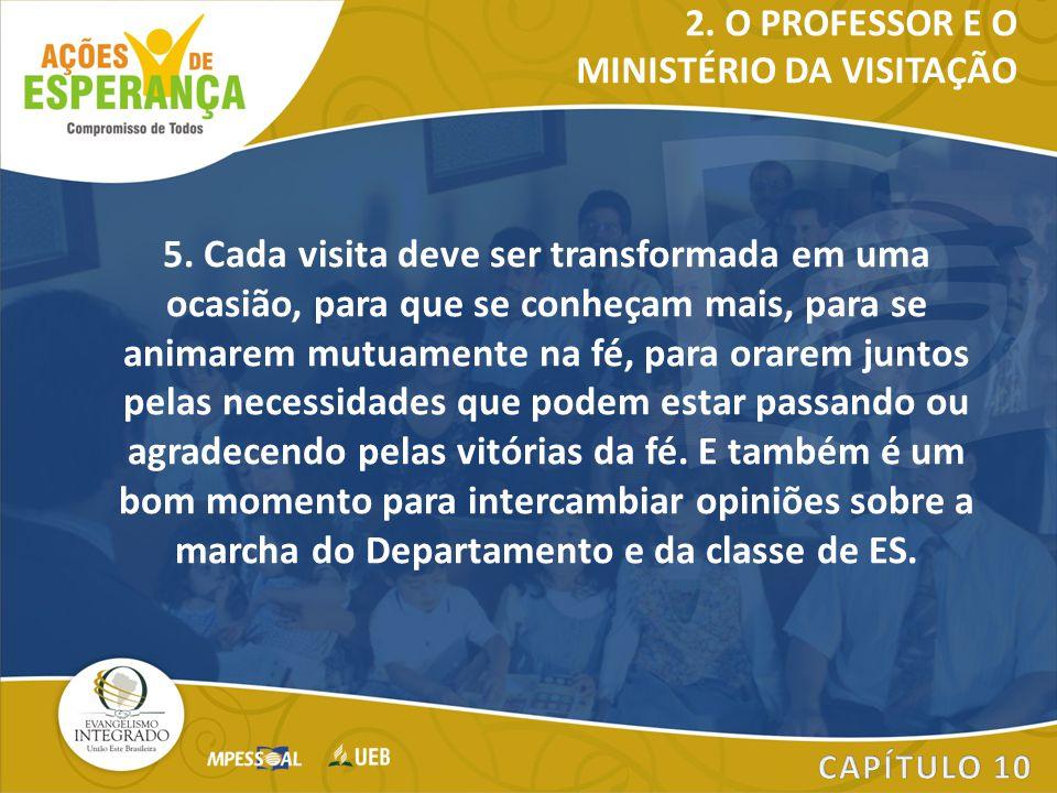 2. O PROFESSOR E O MINISTÉRIO DA VISITAÇÃO.