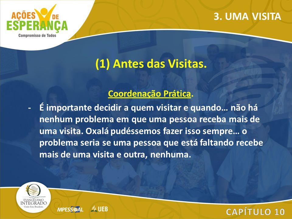 (1) Antes das Visitas. 3. UMA VISITA Coordenação Prática.