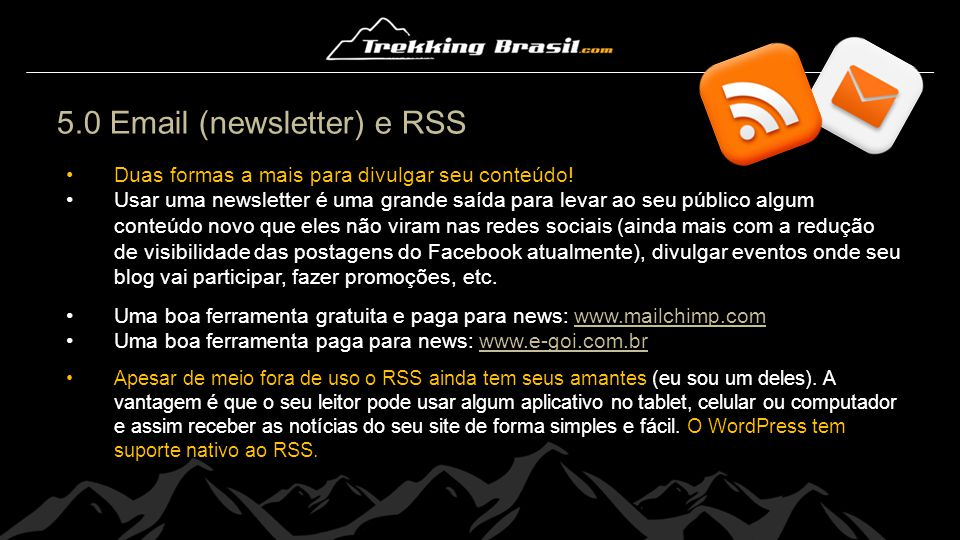 5.0 Email (newsletter) e RSS