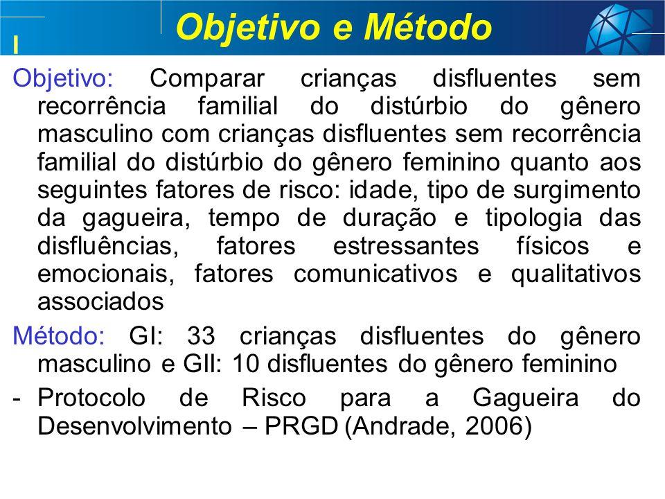 Objetivo e Método I.