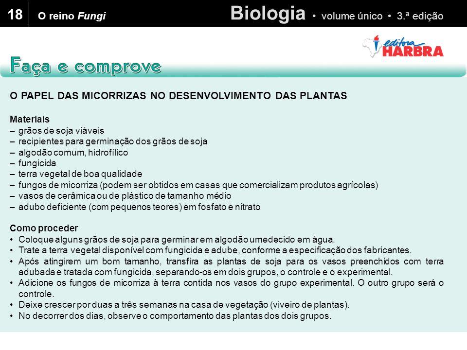 18 O reino Fungi O PAPEL DAS MICORRIZAS NO DESENVOLVIMENTO DAS PLANTAS