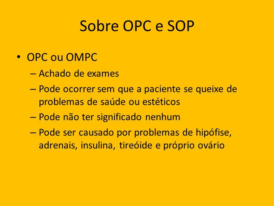 Sobre OPC e SOP OPC ou OMPC Achado de exames