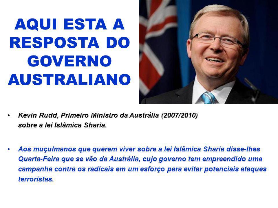 AQUI ESTA A RESPOSTA DO GOVERNO AUSTRALIANO