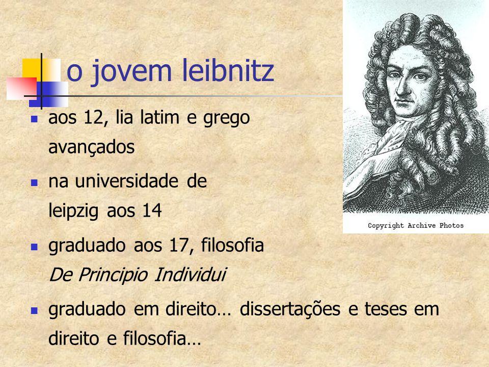 o jovem leibnitz aos 12, lia latim e grego avançados