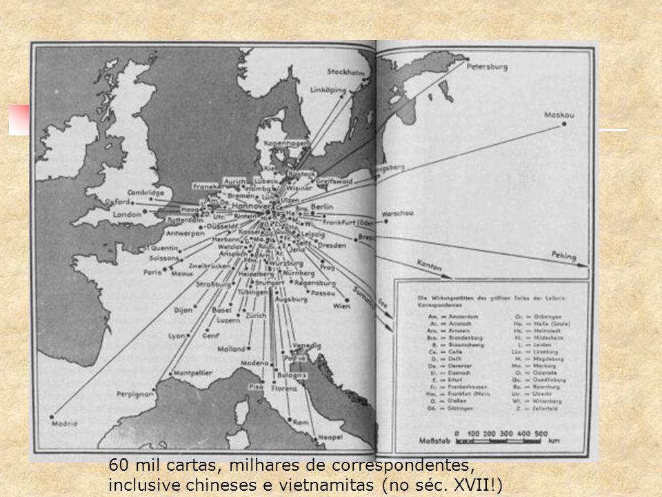 leibniz era uma rede! 60 mil cartas, milhares de correspondentes,