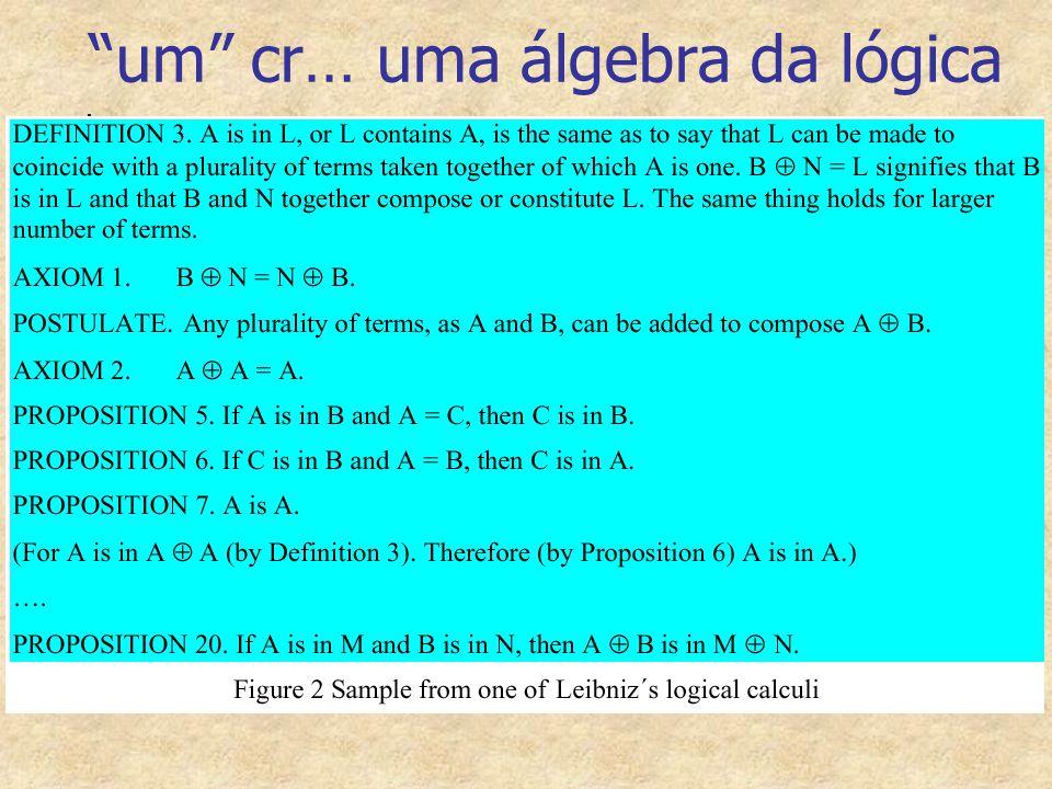 um cr… uma álgebra da lógica
