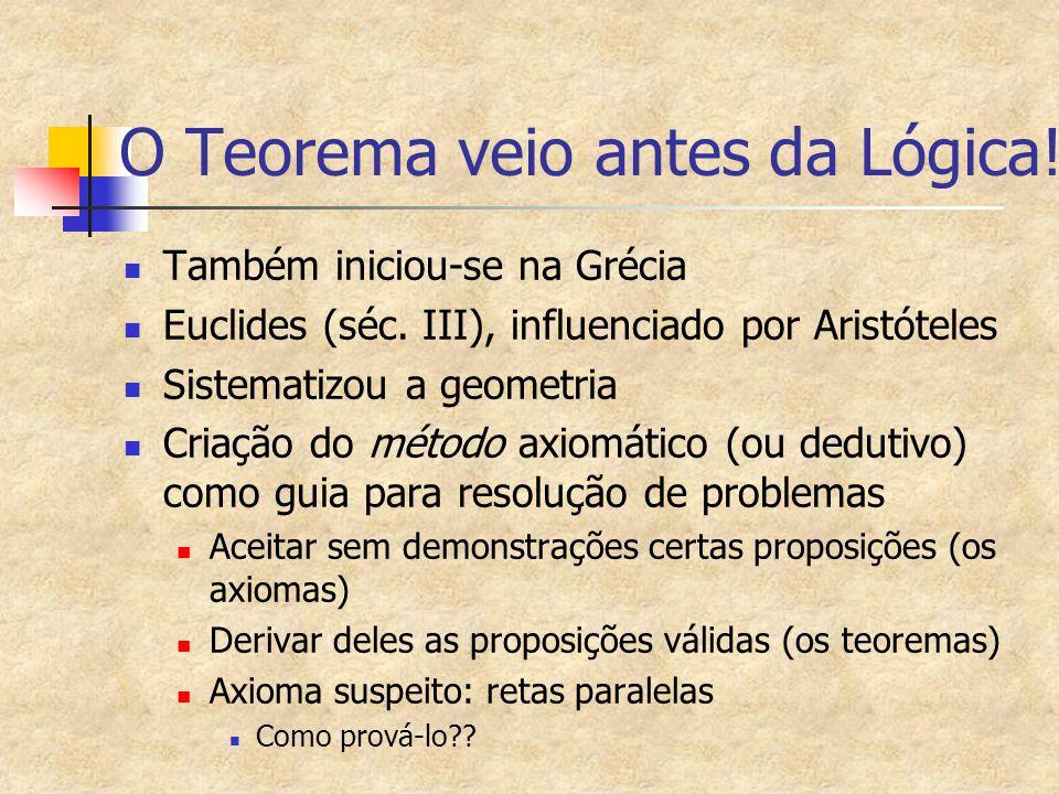O Teorema veio antes da Lógica!