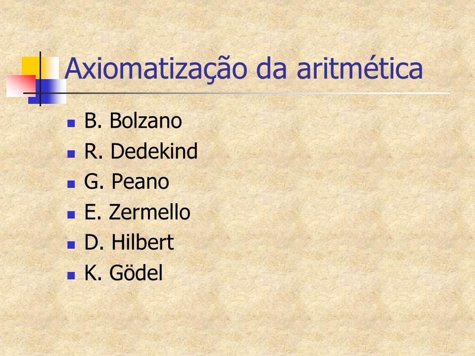Axiomatização da aritmética
