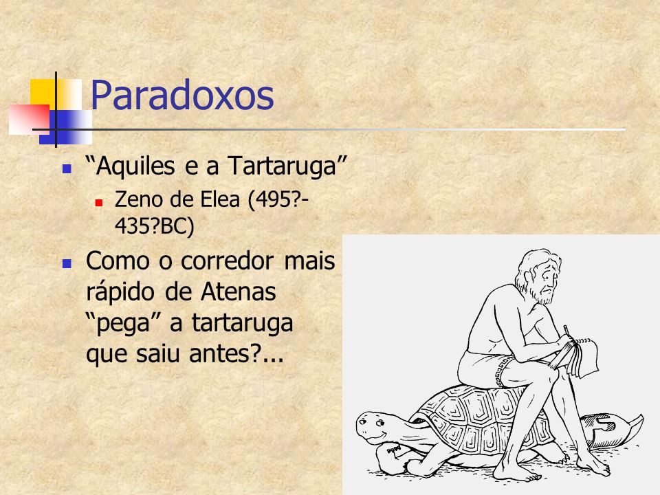 Paradoxos Aquiles e a Tartaruga