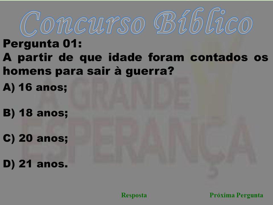 Concurso Bíblico Pergunta 01:
