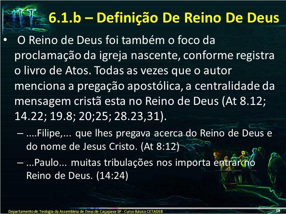 6.1.b – Definição De Reino De Deus