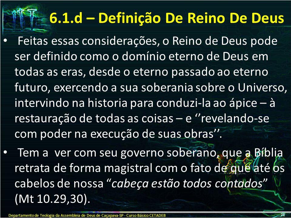6.1.d – Definição De Reino De Deus