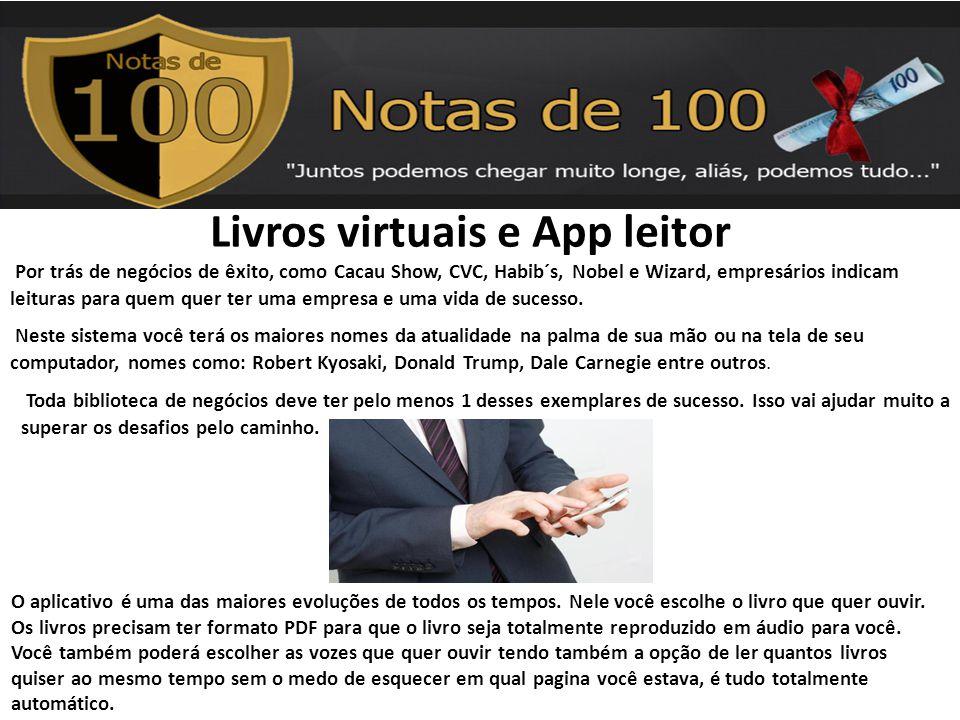 Livros virtuais e App leitor