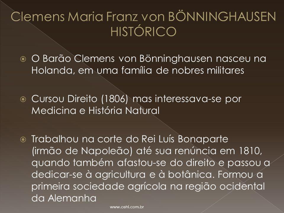 Clemens Maria Franz von BÖNNINGHAUSEN HISTÓRICO