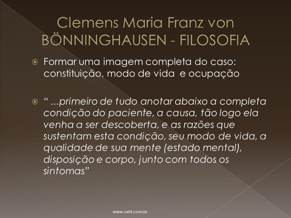 Clemens Maria Franz von BÖNNINGHAUSEN - FILOSOFIA