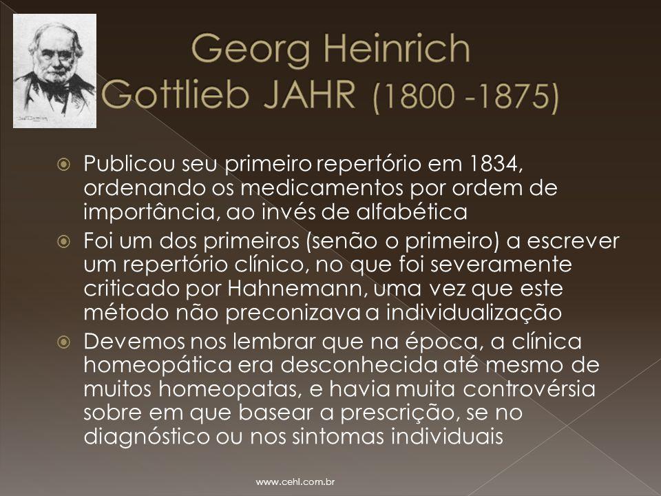 Georg Heinrich Gottlieb JAHR (1800 -1875)