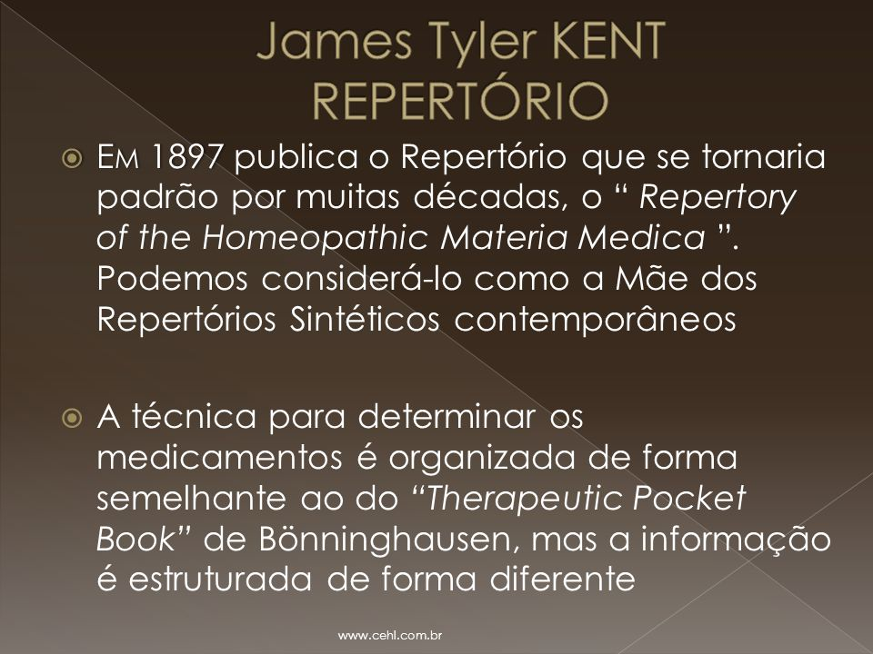 James Tyler KENT REPERTÓRIO