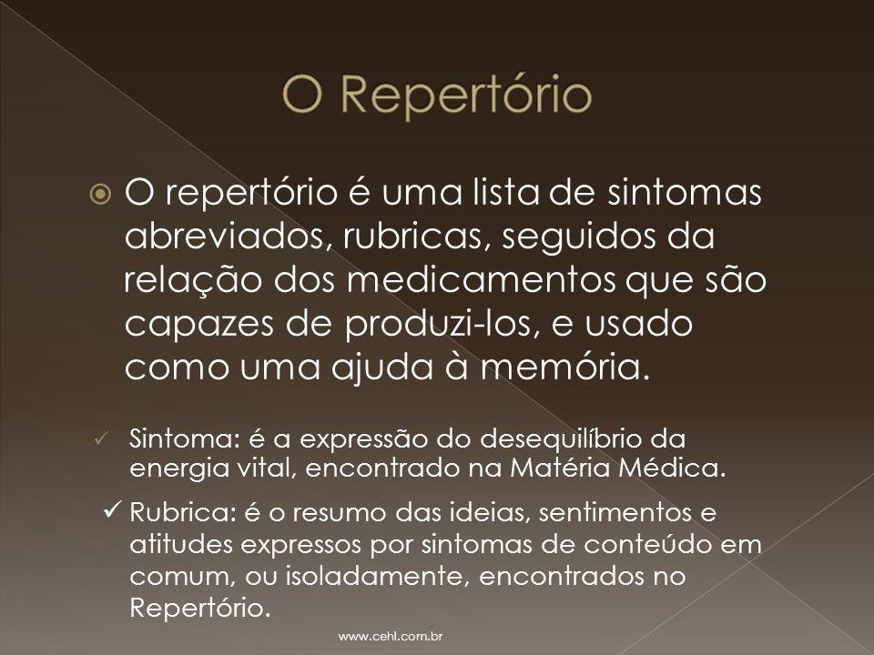 O Repertório