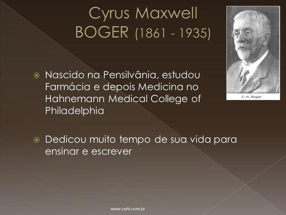 Cyrus Maxwell BOGER (1861 - 1935)