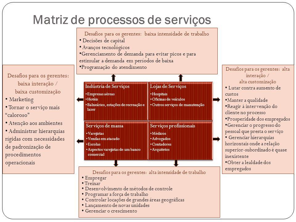 Matriz de processos de serviços