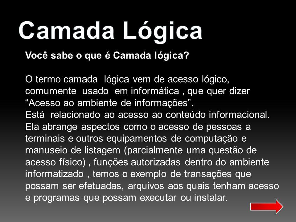 Camada Lógica Você sabe o que é Camada lógica
