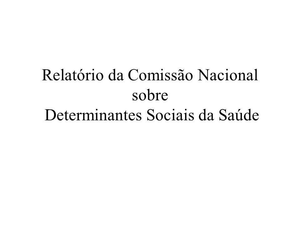 Relatório da Comissão Nacional sobre Determinantes Sociais da Saúde