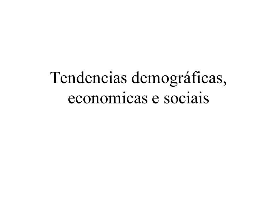 Tendencias demográficas, economicas e sociais