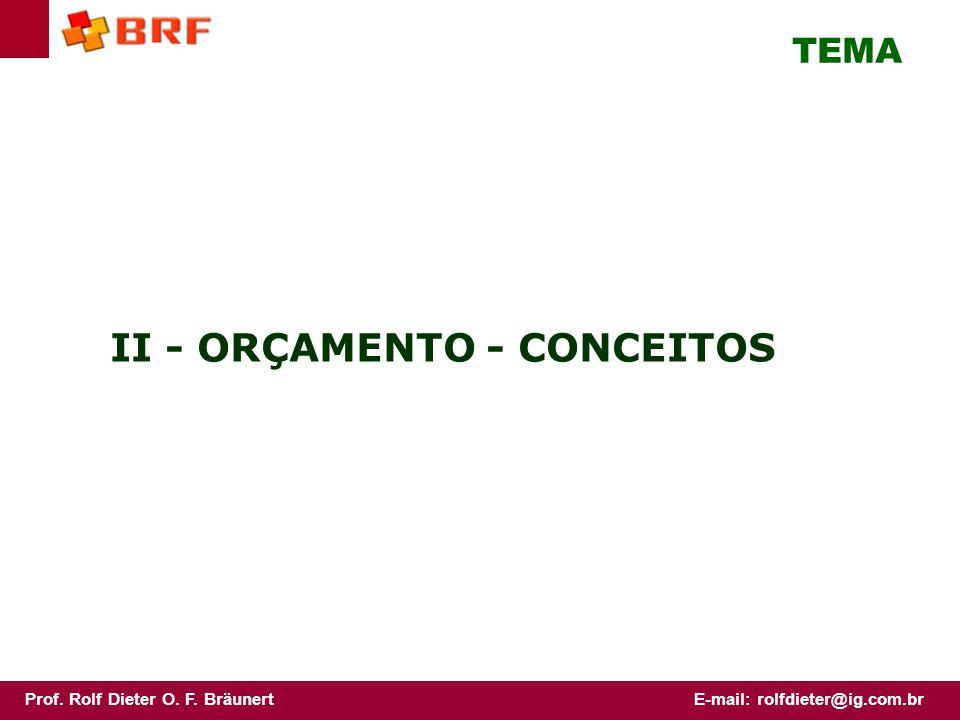 II - ORÇAMENTO - CONCEITOS