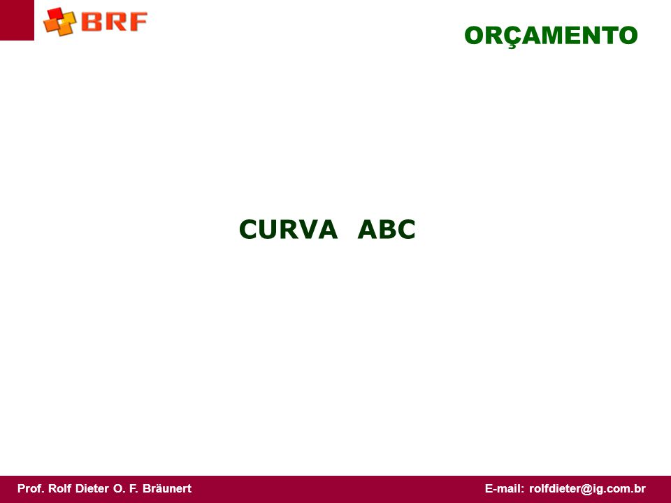 ORÇAMENTO CURVA ABC