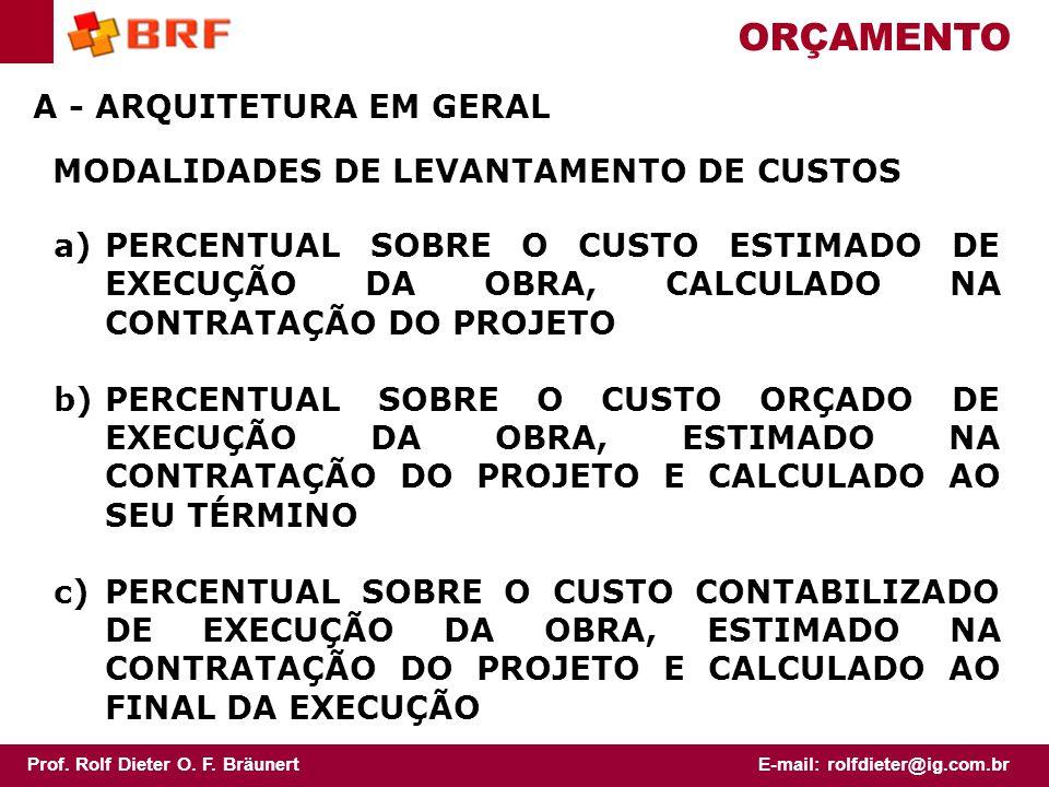 ORÇAMENTO A - ARQUITETURA EM GERAL